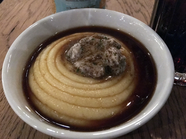 bone marrow mushroom mash at pitt cue liverpool street