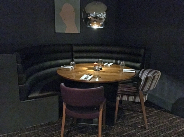 booths at osteria barbican