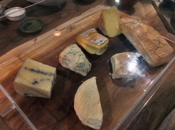 cheese board at osteria barbican