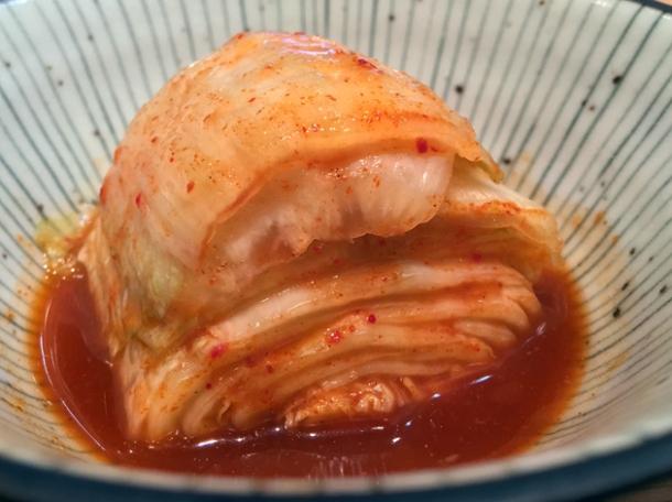 kimchi at yumi izakaya
