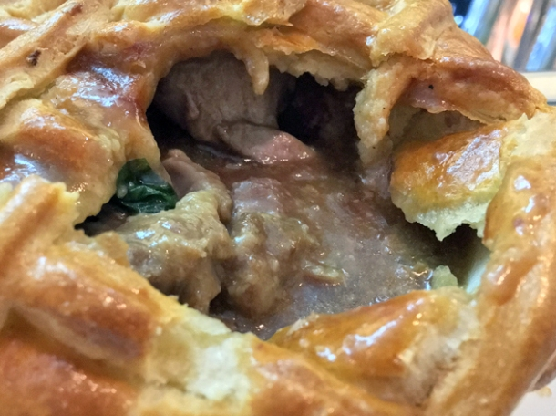 lamb and lamb sweetbread pie at pharmacy 2 newport street gallery
