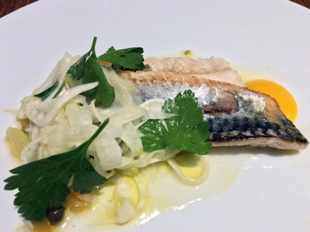 mackerel with fennel and lemon at osteria barbican