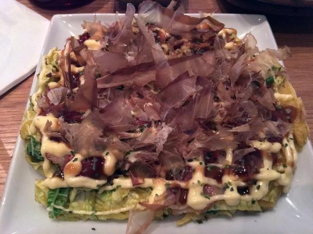 okonomiyaki at yumi izakaya
