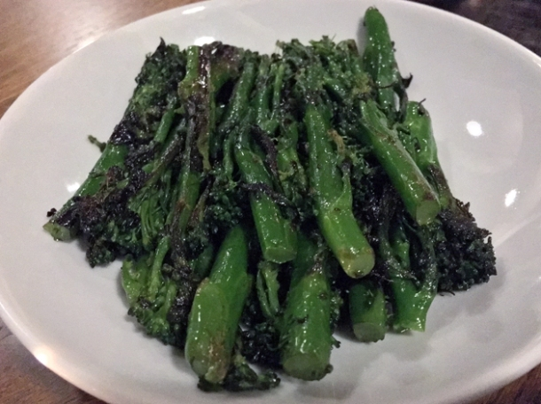purple sprouting broccoli at osteria barbican