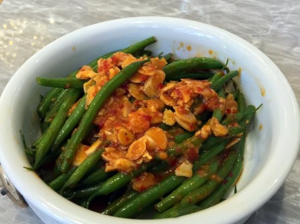 sambal green beans at dickie fitz