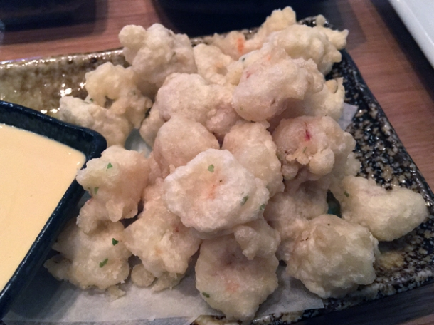 shrimp tempura at yumi izakaya