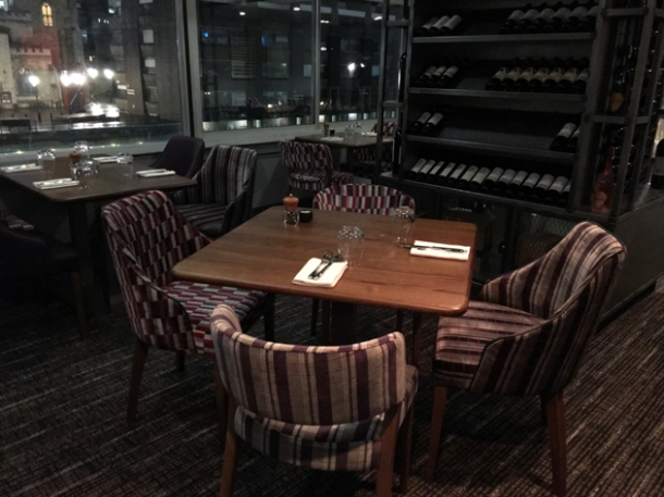 tables and seats at osteria barbican