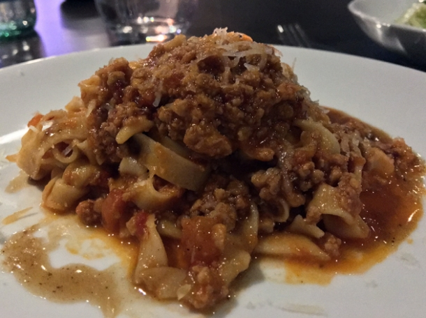 veal and nduja tagliatelle at osteria barbican
