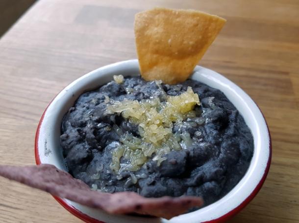 black beans at santo remedio