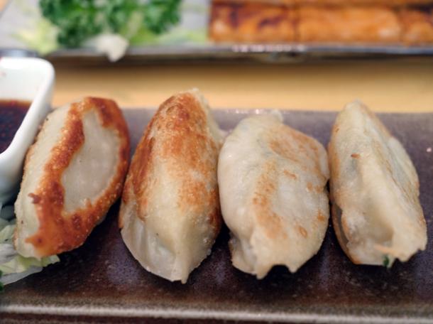 chive mandoo dumplings at bibimbap charlotte street