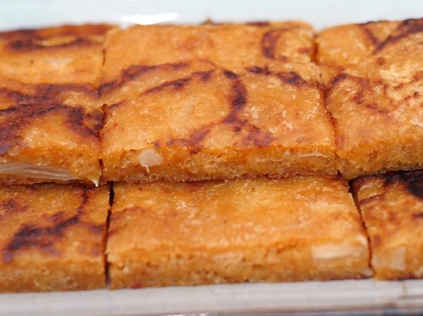 kimchee pancake at bibimbap charlotte street