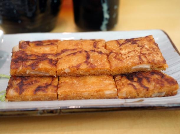 kimchi pancake at bibimbap charlotte street