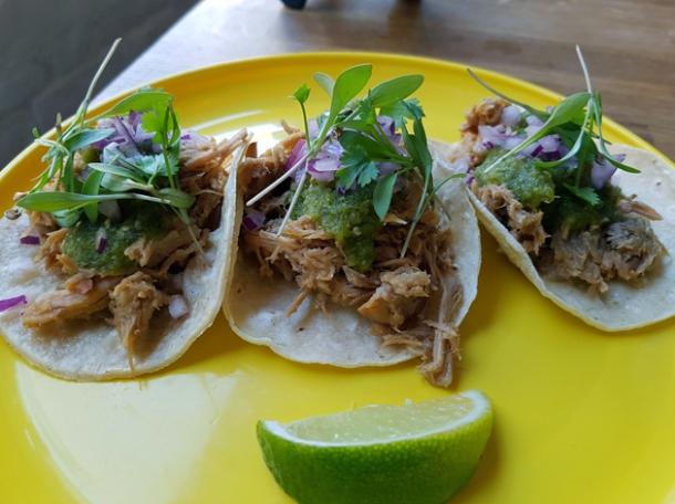 pork tacos at santo remedio