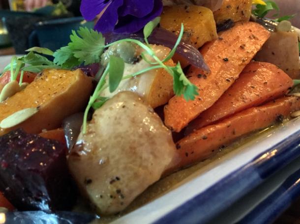 roasted vegetable salad at santo remedio
