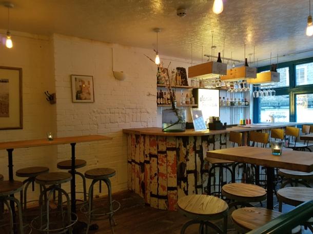 upstairs bar at santo remedio