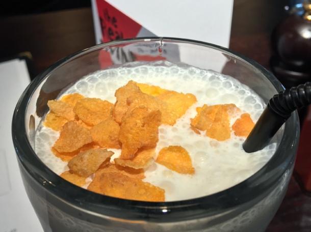 corn flake milk shake at bukowski grill d'arblay street