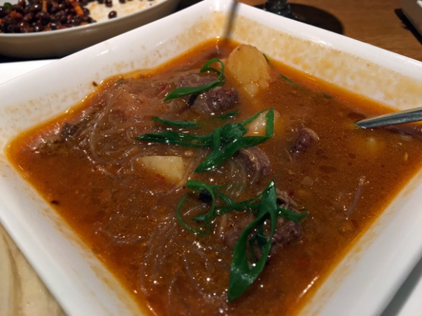 lamb stew with vermicelli and potato at kailash momo