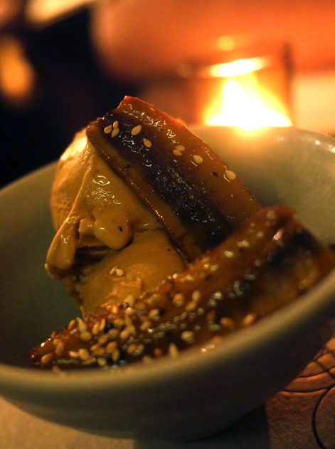 palm sugar ice cream with grilled banana at som saa