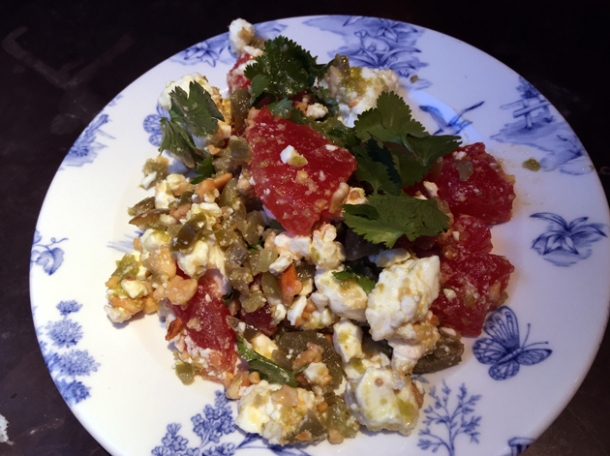 pickled watermelon salad at bukowski grill soho