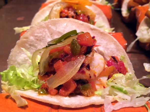 prawn tacos at habanera
