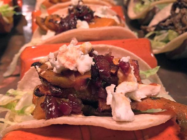 squash tacos at habanera