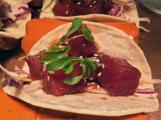 tuna tacos at habanera