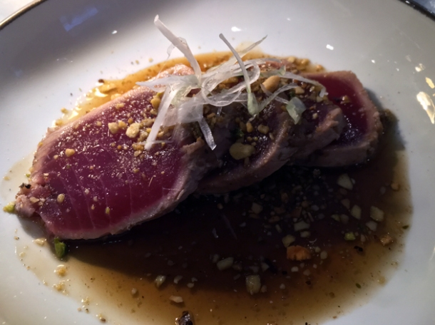 tuna tataki at the barbary