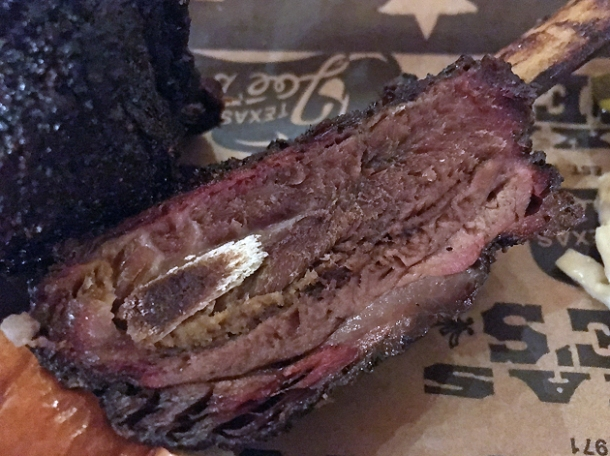 beef short rib at texas joe's smoked meats