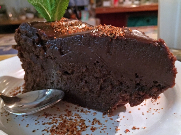 chocolate cake at casa morita