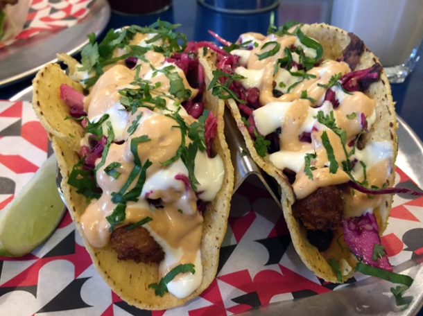 cod tacos at df mexico tottenham court road