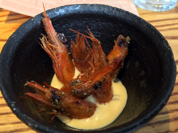 crispy prawn heads at bao fitzrovia