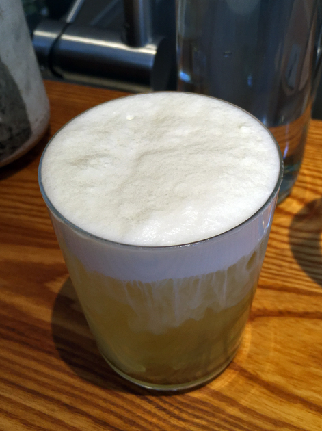 milk foam tea at bao tottenham court road