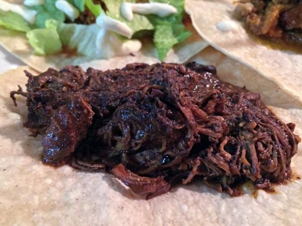 mole negro tacos at casa morita