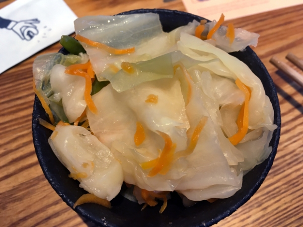 pickled cabbage at bao tottenham court road