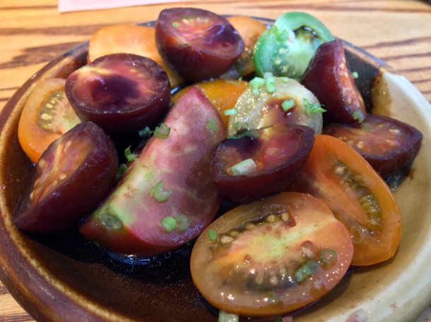 tomatoes with plum powder at bao tottenham court road