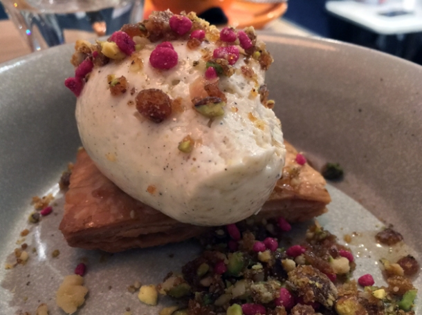 baklava cheesecake at foley's fitzrovia