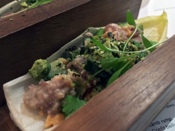 ceviche endive tacos at foley's fitzrovia