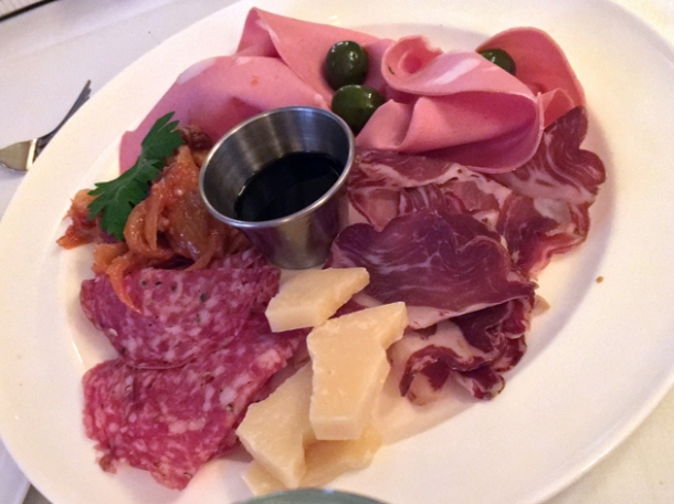 charcuterie at cafe monico