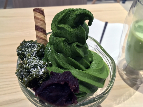 matcha sundae at tombo soho