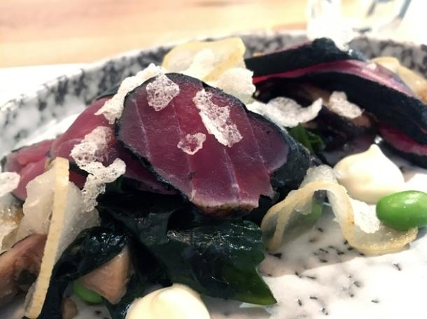 nori wrapped tuna at foley's fitzrovia