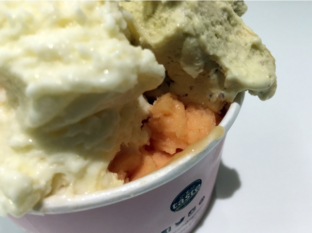 papaya sorbet at snowflake