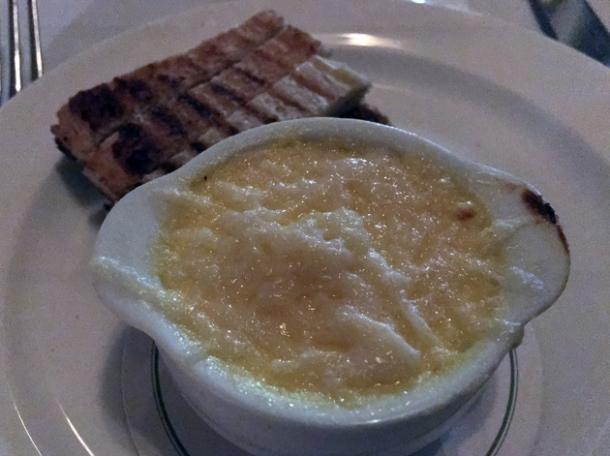 parmesan and anchovy custard at cafe monico