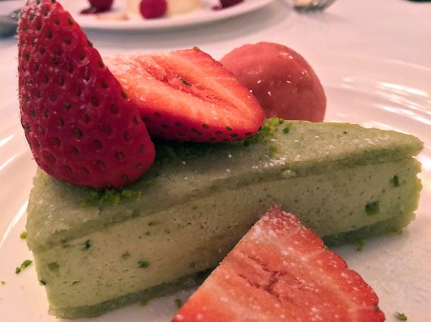 pistachio dacquoise at cafe monico