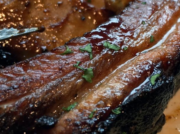 pork spare rib at bbq whisky beer at the grey horse kingston
