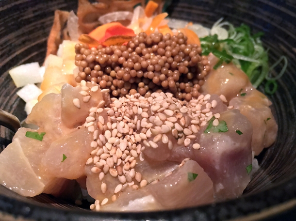 sea bass poke at black roe london