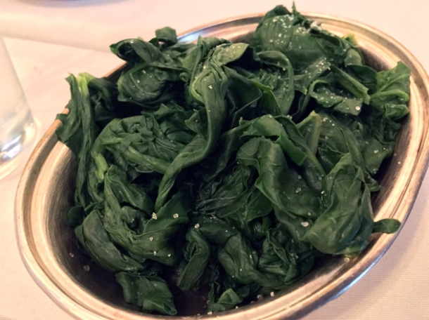 spinach at Cafe Monico