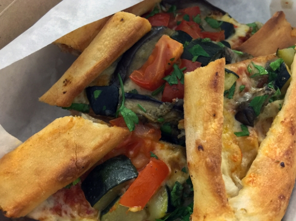 aubergine and zucchini pide from pide oven
