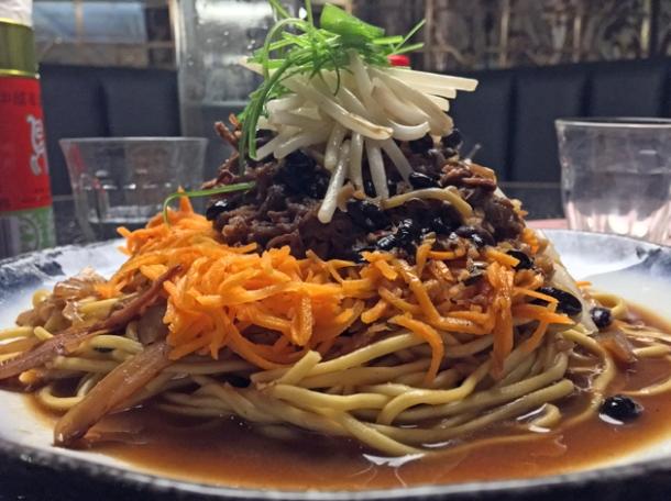 beef short rib lo mein at cha chaan teng london