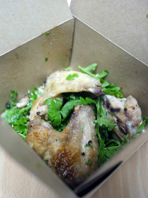 black pepper and coriander chicken wings from pide oven fitzrovia