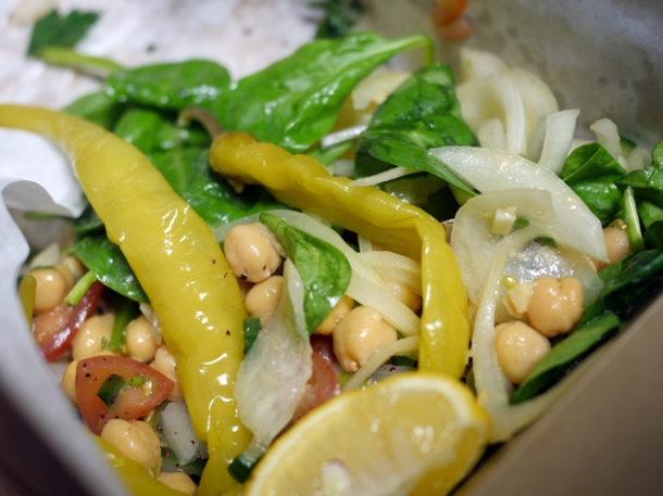 chickpea salad from pide oven